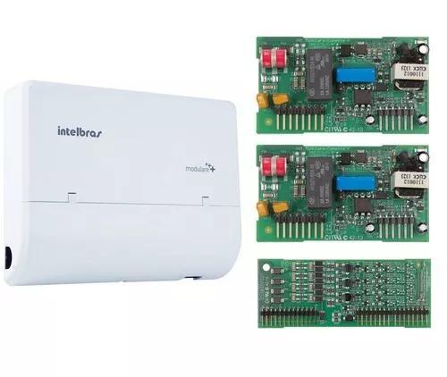 Microcentral telefonia fixa modulare + 4x8 intelbras kit 4