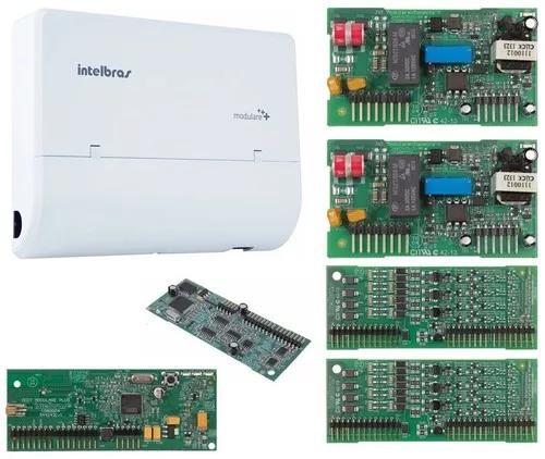 Microcentral telefonia modulare + 4x12 disa + dect intelbras