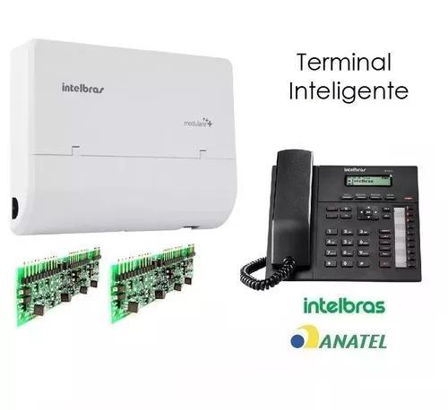 Pabx 2 linhas 12 ramais terminal ks ti830 intelbras modulare