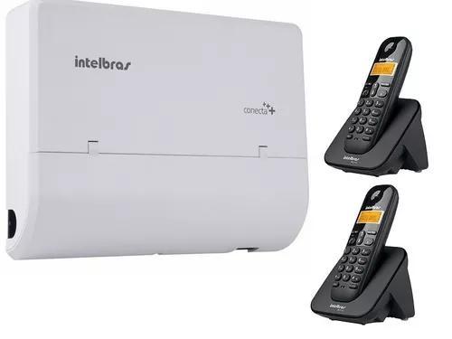 Pabx conecta 2linhas e 8ramais inclusos 2 telefones 3110