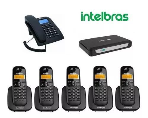 Pabx minicom intelbras 2 linhas 1 telefone com fio 5 s