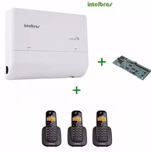 Pabx modulare + 2/4 intelbras + 3 ramais s
