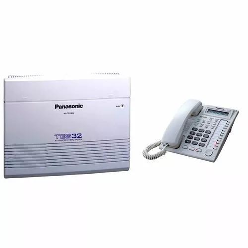 Pabx panasonic kx-tes32br 3ta e 8ra + aparelho kx-t7730
