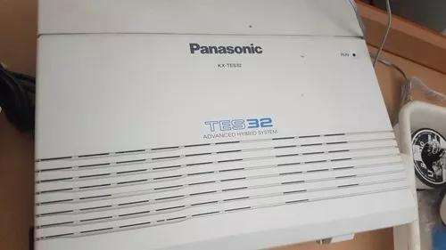 Panasonic kx-tes 32 6 linhas 16 ramais + kx-t7730