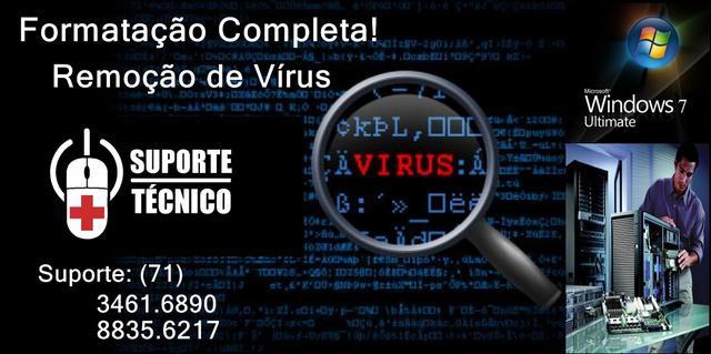 Remoção de vírus, informática á domicilio
