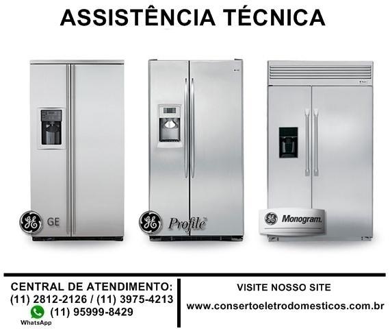 Reparo e manutenção de geladeira side by side ge, troca de