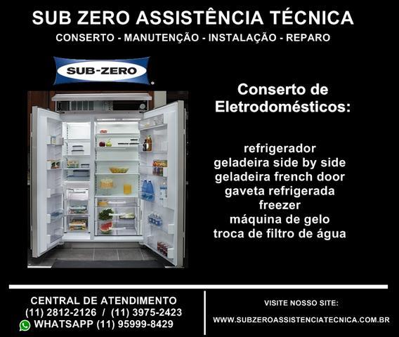 Sub zero assistência técnica de geladeira side by side,