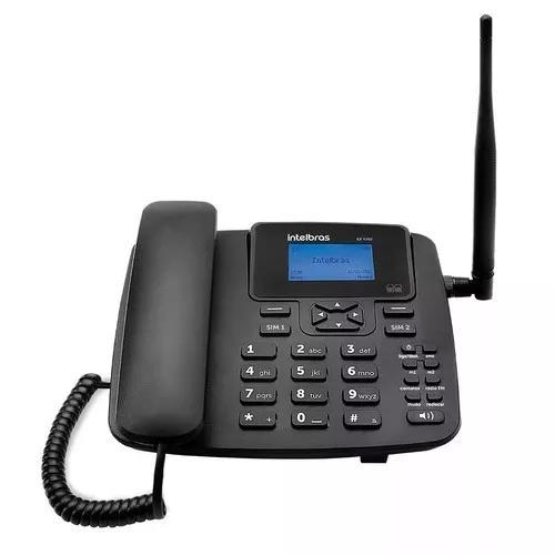 Telefone celular fixo intelbras gsm 2chips quad-band cf 420