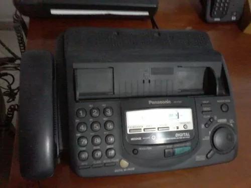 Telefone com fax e secretária panasonic preto