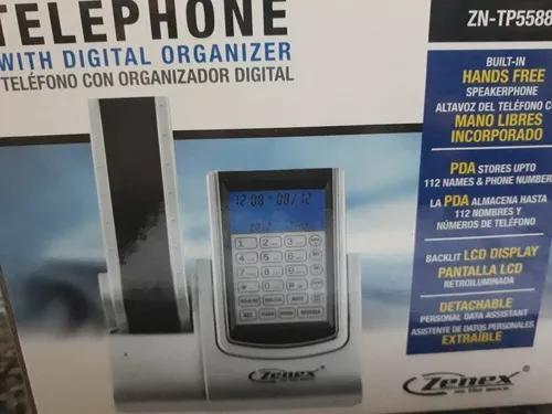 Telefone de linha cor cinza e preto