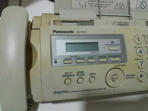 Telefone fax panasonic kxfp215