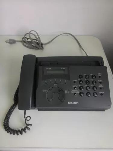 Telefone fax sharp cinza funcionando perfeitamente