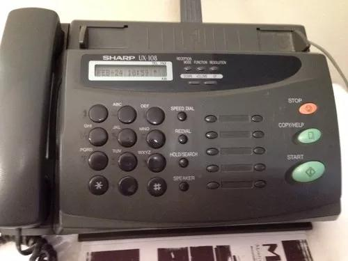Telefone fax sharp modelo ux 108 com manual original