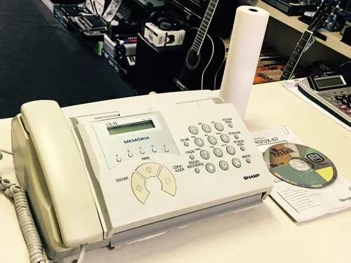 Telefone fax sharp ux-45 + rolo de papel - loja jarbas inst.