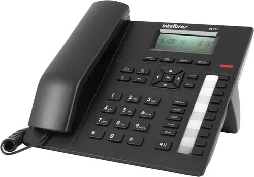 Terminal executivo telefone te 220 intelbras viva voz
