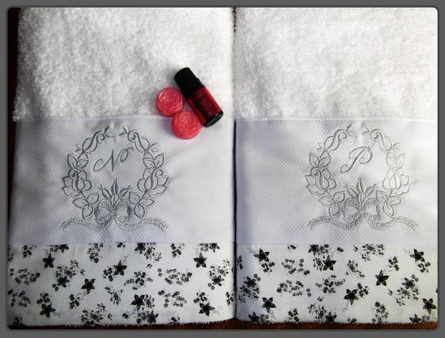Toalhas bordadas personalizadas