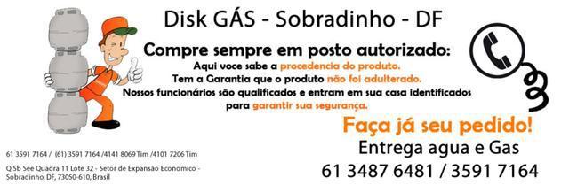 Disk gas liquigas em sobradinho df, colina,imperio dos
