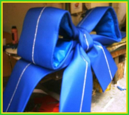 Laco azul com fita para carro de presente 11 2387 7408