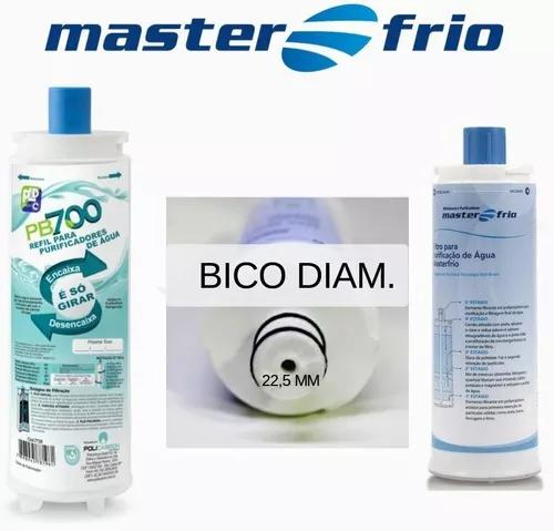 1 refil filtro rotulo azul 22,5 cm purificador master frio