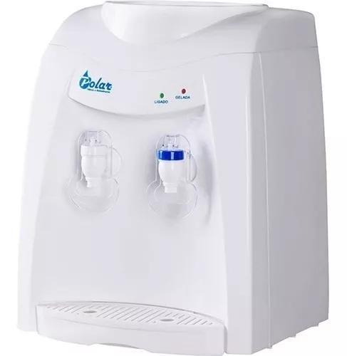 Bebedouro de agua natural e gelada branco filtro galao 110v