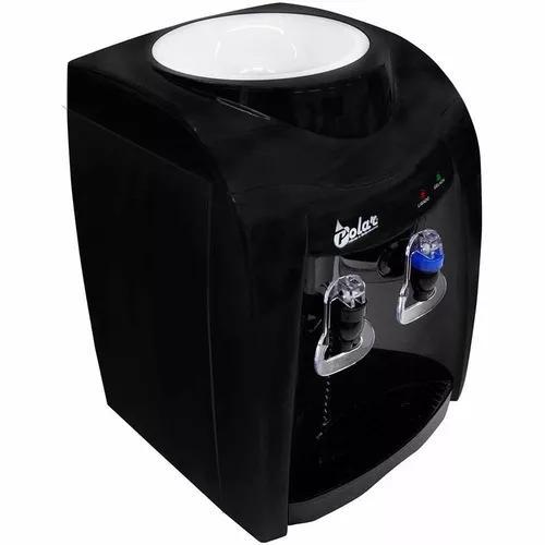 Bebedouro de agua preto gelada e natural filtro galao 220v
