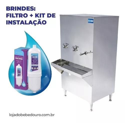 Bebedouro purificador ind. coluna inox 100 litros 110/220