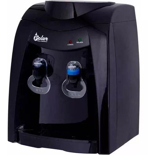 Bebedouro água elétrico gelada natural preto galão