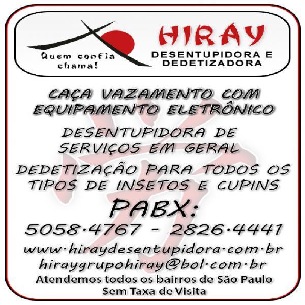 Caça vazamento hiray 5058-47-67 vila monte alegre