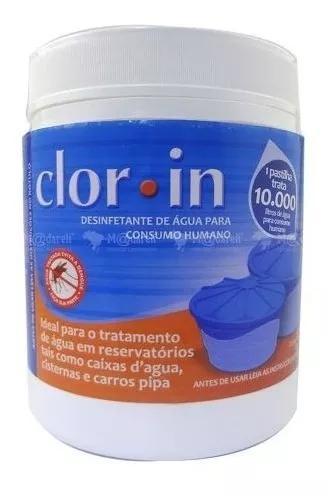 Cloro para tratar água consumo humano 10000 litros - clorin