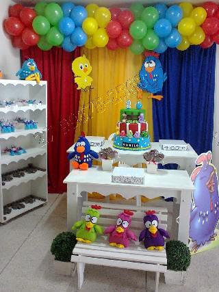 Decoração com balões para festas