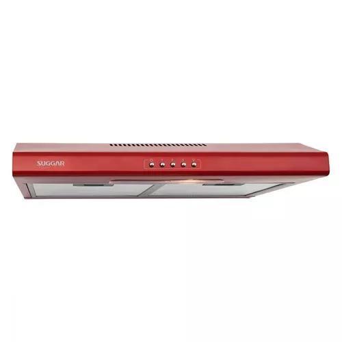 Depurador de ar slim 60 cm vermelho 220v suggar di62vm