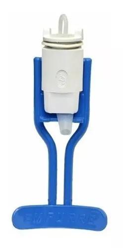 Kit haste azul torneira+bico+mola+corpo p/refresqueira begel