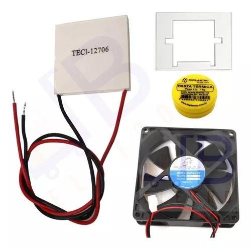 Kit placa peltier ventilador purificador água latina