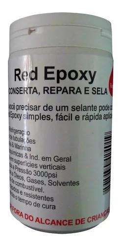 Solda fria red epoxy uso metais e ar condicionado brasweld