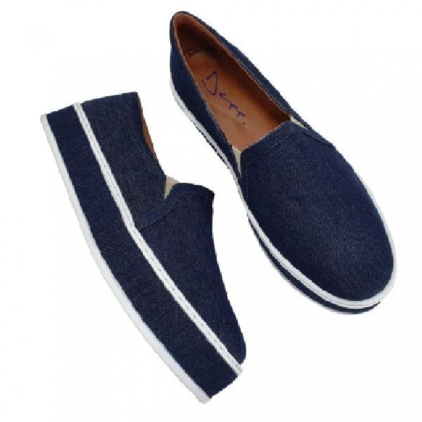 8cd1cccfa7 Tênis plataforma jeans depp calçados feminino