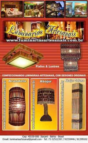 Arandela ar7007, luminárias artesanais,arandelas,