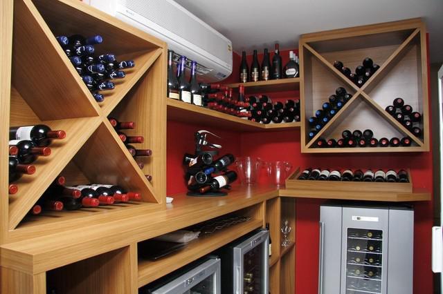 Expositor para vinhos