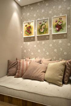 Móveis planejados + cortina + papel de parede * parceria