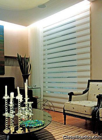Persianas venezianas cortinas e janelas
