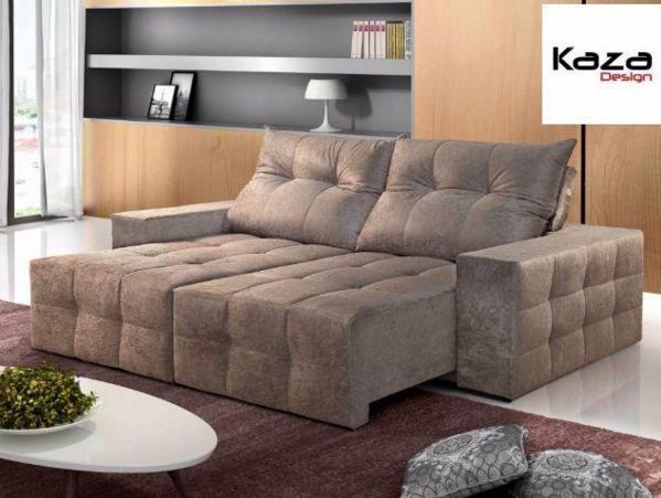 Sofá retrátil e reclinável (ref. tu)   #kazadesign