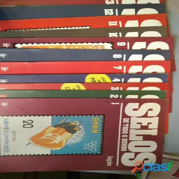Coleção selos de todo o mundo impecável 01 ao 60
