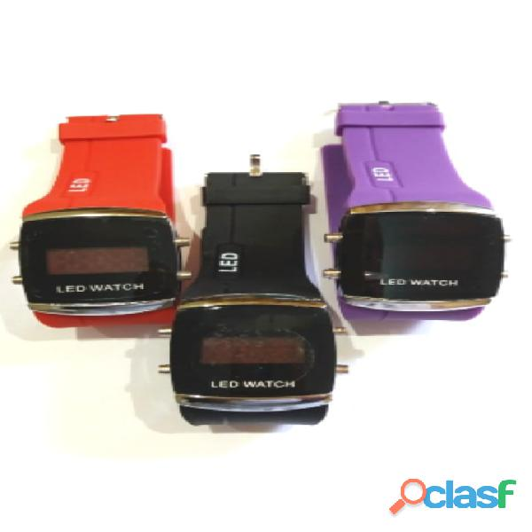 Lote atacado relógio led watch barato para revenda 10 unidades