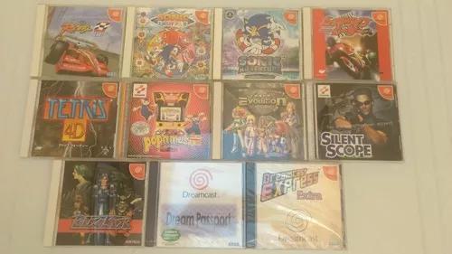 11 jogos originais dreamcast frete gratis 12x s
