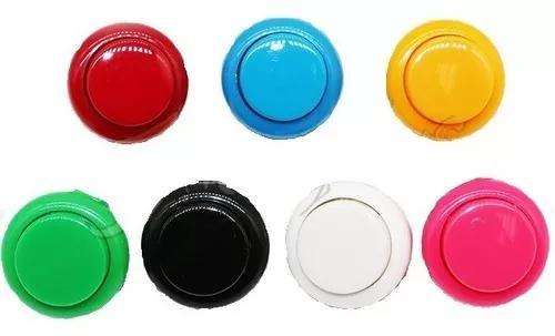 16 botão tipo sanwa 24mm c/ micro fliperama botões