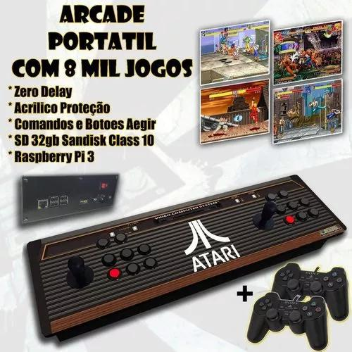 Arcade portátil controle - multijogo 8000 jogo + 2joystick