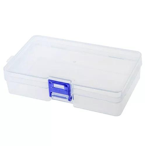 Caixa armazenamento plástico transparente para pequeno