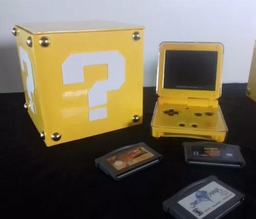 Caixa p/ game boy / gba - question box super mario