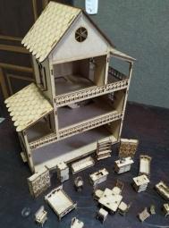 Casa de boneca em mdf - entrego e parcelo