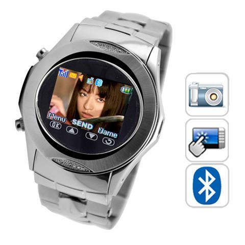 Celular relógio touchscreen mp3/mp4 fm