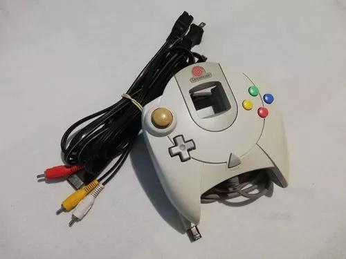 Controle antigo original sega dreamcast + cabos - usados